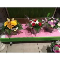 Bouquet avec réserve d'eau