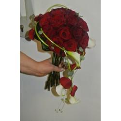 Bouquet pour mariée roses rouges