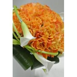 Bouquet de mariée couleurs différentes